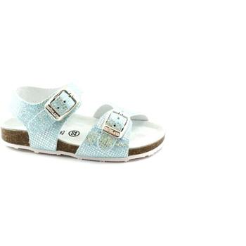 Chaussures Enfant Mules Grunland AFRE SB0812 22 bleu ciel ciel sandale fille boucles paillettes Metalizzato
