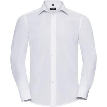 Vêtements Homme Chemises manches longues Russell Poplin Blanc