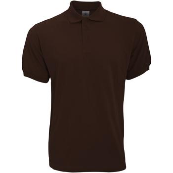 Vêtements Homme Polos manches courtes B And C Safran Marron