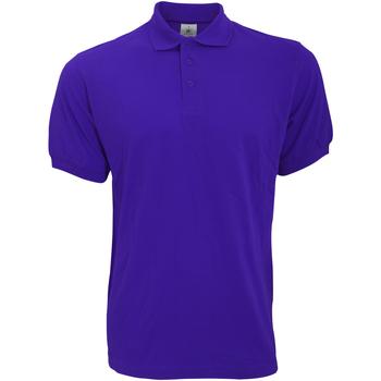 Vêtements Homme Polos manches courtes B And C Safran Violet