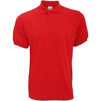 Vêtements Homme Polos manches courtes B And C Safran Rouge