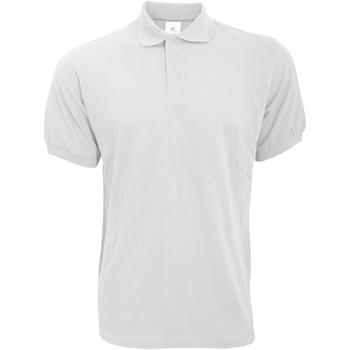 Vêtements Homme Polos manches courtes B And C PU409 Blanc