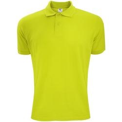Vêtements Homme Polos manches courtes Sg Polycotton Vert citron