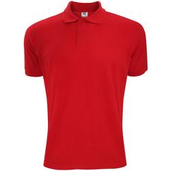 Vêtements Homme Polos manches courtes Sg Polycotton Rouge