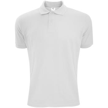 Vêtements Homme Polos manches courtes Sg Polycotton Blanc