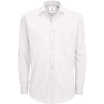 Vêtements Homme Chemises manches longues B And C Poplin Blanc