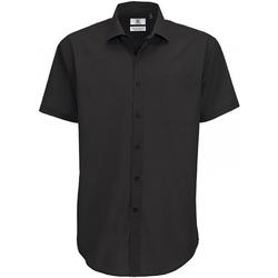 Vêtements Homme Chemises manches courtes B And C SMP62 Noir