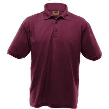Vêtements Homme Polos manches courtes Ultimate Clothing Collection Pique Bordeaux