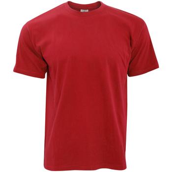 Vêtements Homme T-shirts manches courtes B And C TU004 Rouge