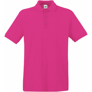 Vêtements Homme Polos manches courtes Fruit Of The Loom 63218 Fuchsia