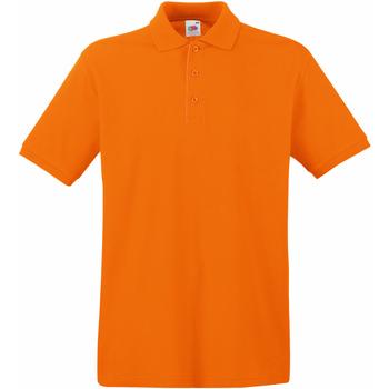 Vêtements Homme Polos manches courtes Fruit Of The Loom Premium Orange