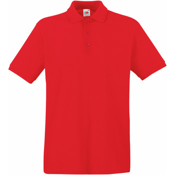 Vêtements Homme Polos manches courtes Fruit Of The Loom 63218 Rouge