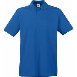 Vêtements Homme Polos manches courtes Fruit Of The Loom Premium Bleu roi