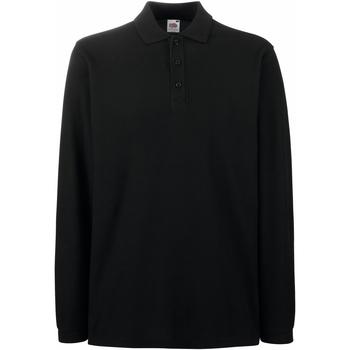 Vêtements Homme Polos manches longues Fruit Of The Loom Premium Noir