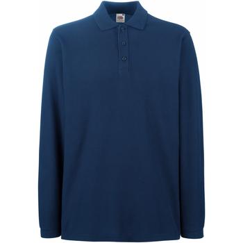 Vêtements Homme Polos manches longues Fruit Of The Loom Premium Bleu marine
