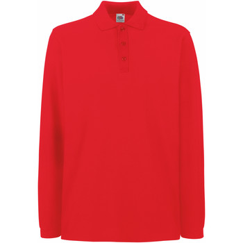 Vêtements Homme Polos manches longues Fruit Of The Loom 63310 Rouge