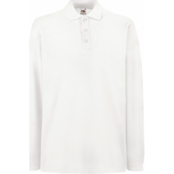 Vêtements Homme Polos manches longues Fruit Of The Loom Premium Blanc