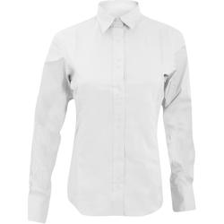 Vêtements Femme Chemises / Chemisiers Kustom Kit KK388 Blanc
