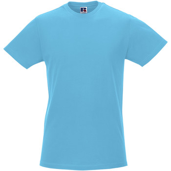 Vêtements Homme T-shirts manches courtes Russell R155M Turquoise