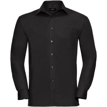 Vêtements Homme Chemises manches longues Russell Chemise de travail à manches longues 100% coton BC2735 Noir
