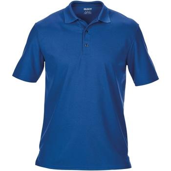 Vêtements Homme Polos manches courtes Gildan Pique Bleu roi
