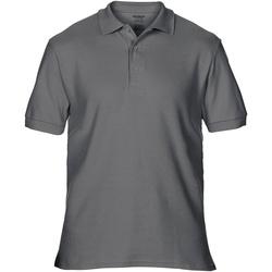 Vêtements Homme Polos manches courtes Gildan Premium Gris foncé