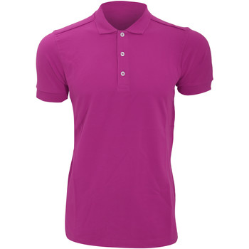 Vêtements Homme Polos manches courtes Russell Polo uni slim BC3257 Fuchsia