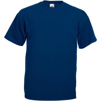 Vêtements Homme T-shirts manches courtes Fruit Of The Loom Valueweight Bleu marine