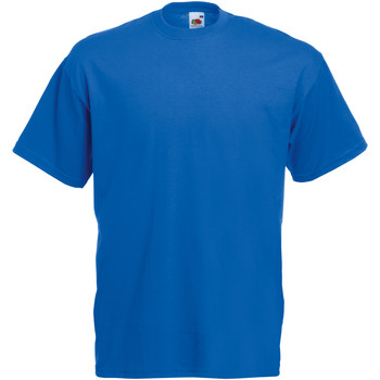 Vêtements Homme T-shirts manches courtes Fruit Of The Loom Valueweight Bleu roi