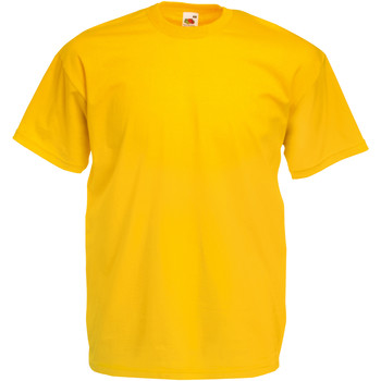 Vêtements Homme T-shirts manches courtes Fruit Of The Loom Valueweight Jaune