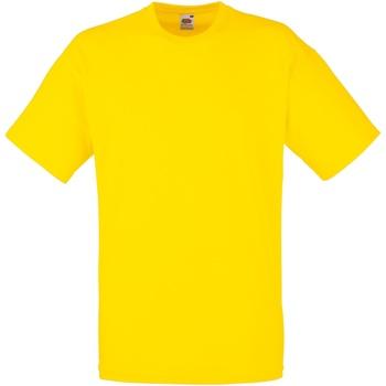 Vêtements Homme T-shirts manches courtes Fruit Of The Loom 61036 Jaune vif