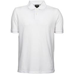 Vêtements Homme Polos manches courtes Tee Jays Pique Blanc