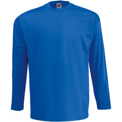 Vêtements Homme T-shirts manches longues Fruit Of The Loom Valueweight Bleu roi