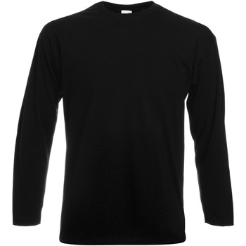 Vêtements Homme T-shirts manches longues Fruit Of The Loom Valueweight Noir