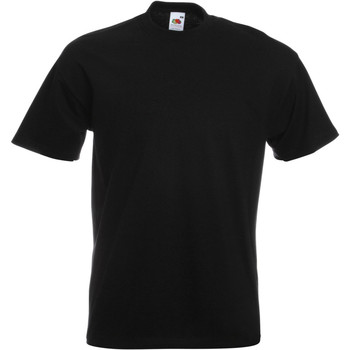Vêtements Garçon T-shirts manches courtes Fruit Of The Loom Premium Noir