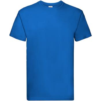 Vêtements Garçon T-shirts manches courtes Fruit Of The Loom Premium Bleu roI