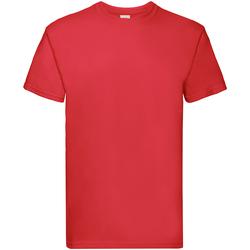 Vêtements Garçon T-shirts manches courtes Fruit Of The Loom Premium Rouge
