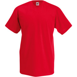 Vêtements Homme T-shirts manches courtes Fruit Of The Loom Valueweight Rouge