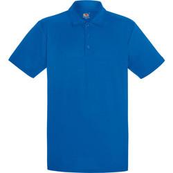 Vêtements Homme Polos manches courtes Fruit Of The Loom Performance Bleu roi