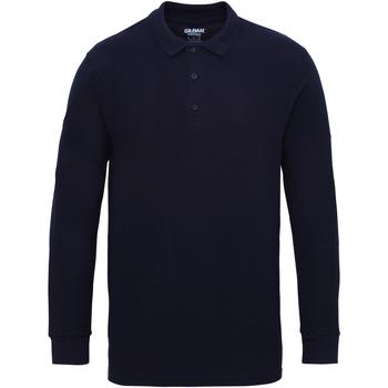 Vêtements Homme Polos manches longues Gildan 85900 Bleu marine
