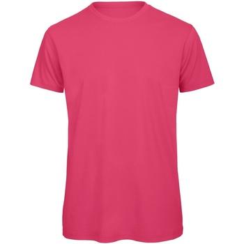 Vêtements Homme T-shirts manches courtes B And C Organic Fuchsia