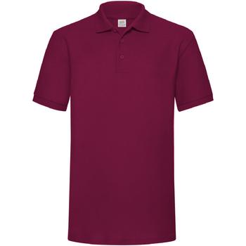 Vêtements Homme Polos manches courtes Fruit Of The Loom Pique Bordeaux