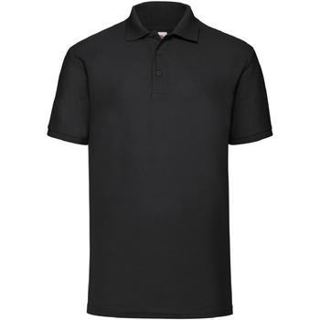 Vêtements Homme Polos manches courtes Fruit Of The Loom Pique Noir