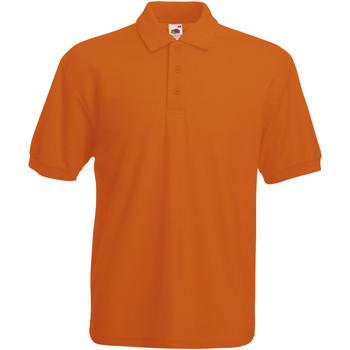 Vêtements Homme Polos manches courtes Fruit Of The Loom Pique Orange
