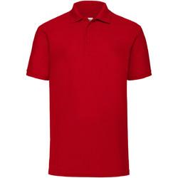 Vêtements Homme Polos manches courtes Fruit Of The Loom Pique Rouge