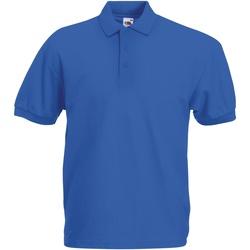 Vêtements Homme Polos manches courtes Fruit Of The Loom Pique Bleu roi