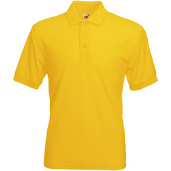 Vêtements Homme Polos manches courtes Fruit Of The Loom 63402 Tournesol