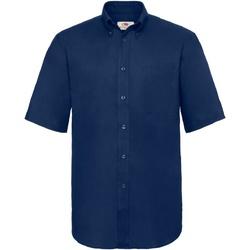 Vêtements Homme Chemises manches courtes Fruit Of The Loom 65112 Bleu marine