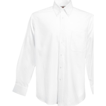 Vêtements Homme Chemises manches longues Fruit Of The Loom Oxford Blanc