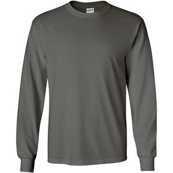 Vêtements Homme T-shirts manches longues Gildan 2400 Gris foncé